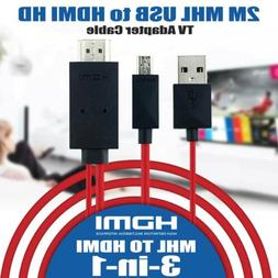1080P MHL Micro USB to HDMI HD TV Cable Adapter for Android