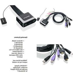 Iogear 2-Port Hdmi Cable Kvm Switch With Cables And Audio, G