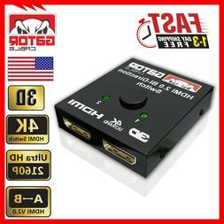 Bi-Direction 4K HDMI 2.0 Cable Switch Switcher Splitter HUB