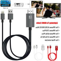 8Pin Lightning to HDMI Digital TV AV Adapter Cable For iPhon