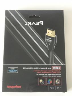 AudioQuest Pearl 1m  Black/White HDMI Digital Audio/Video Ca