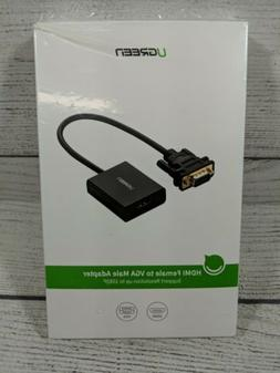 UGREEN Active HDMI to VGA Adapter with 3.5mm Audio Jack HDMI