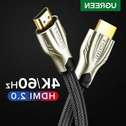 Ugreen HDMI Cable 4K 60Hz HDMI to HDMI 2.0 Cable 3D Video Co