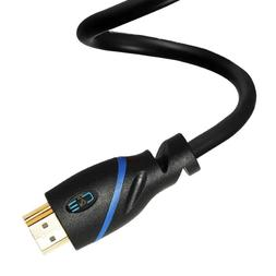 C&E 25ft High Speed HDMI Cable w/Ethernet Black 4K 3D 1080p
