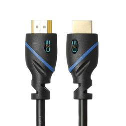 C&E High Speed HDMI Cable Male to Male with Ethernet Black 5