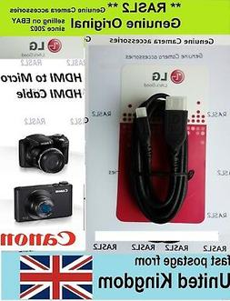 Camera to TV HDMI Cable For Canon Powershot SX730 SX710 SX62
