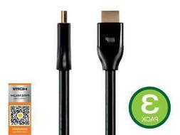 Monoprice Certified Premium HDMI Cable 6ft Black 4K@60Hz HDR