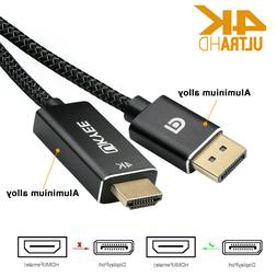 DisplayPort to HDMI Cable,DisplayPort to HDMI Male-Male Adap
