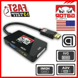 DisplayPort Male To DVI-D HDMI VGA Female Adapter Converter