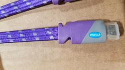 Aurum Flat HDMI Braided Cable Ethernet 3D 4K Audio Return 15