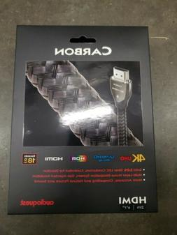 "Genuine Audioquest Carbon  HDMI Cable 4K 8K Ultra HD 2M 6'7"""