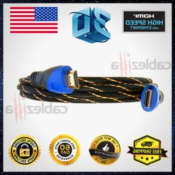 Premium HDMI Cable High Speed Hdtv 1080P 3ft 6ft 10ft 25ft 3