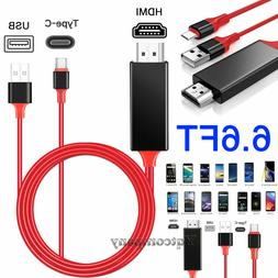 HDMI Mirroring Type C Cable Phone to TV HDTV Adapter For Sam