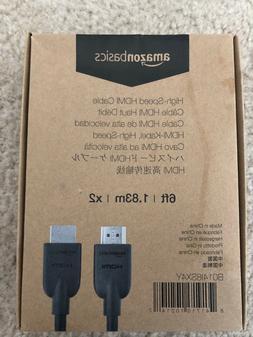 AmazonBasics High-Speed 4K HDMI Cable, 6 Feet, 1-Pack - BRAN