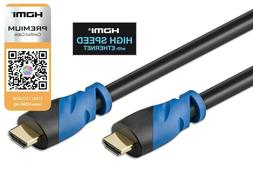 HIGH SPEED PREMIUM HDMI CABLE 1.4 Wire BLURAY 3D DVD HDTV Me