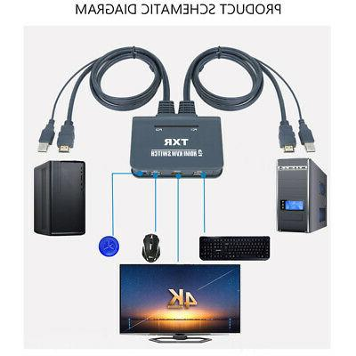 2 Box HDMI Switch Accessories With Computer