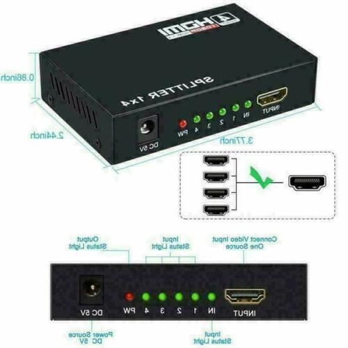 4K HDMI 2.0 Repeater Amplifier HUB In 4