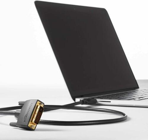 DVI Cables, Black, Gold-Plated Connectors