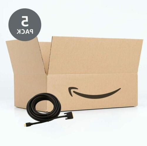 5-PACK AmazonBasics DVI 25FT Cables, Gold-Plated Connectors