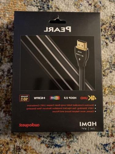 AudioQuest Pearl 2m  Black/White HDMI Digital Audio/Video Ca