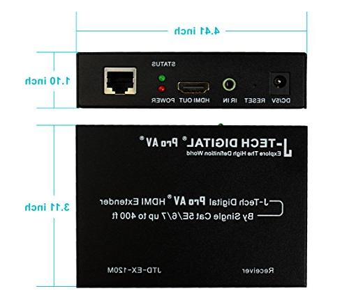 J-Tech Extender Over TCP/IP Ethernet/Over Single with Remote Up to
