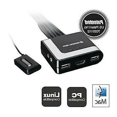 IOGEAR 2-Port HDMI KVM Switch and Audio,