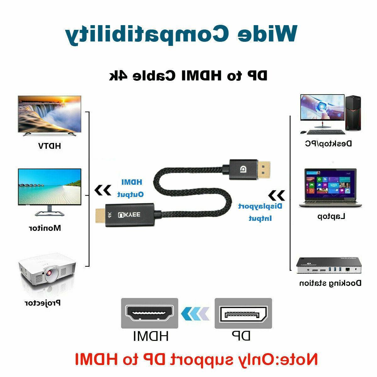DisplayPort to HDMI Cord for Dell