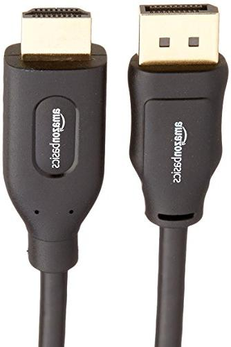 AmazonBasics DisplayPort to HDMI Cable -