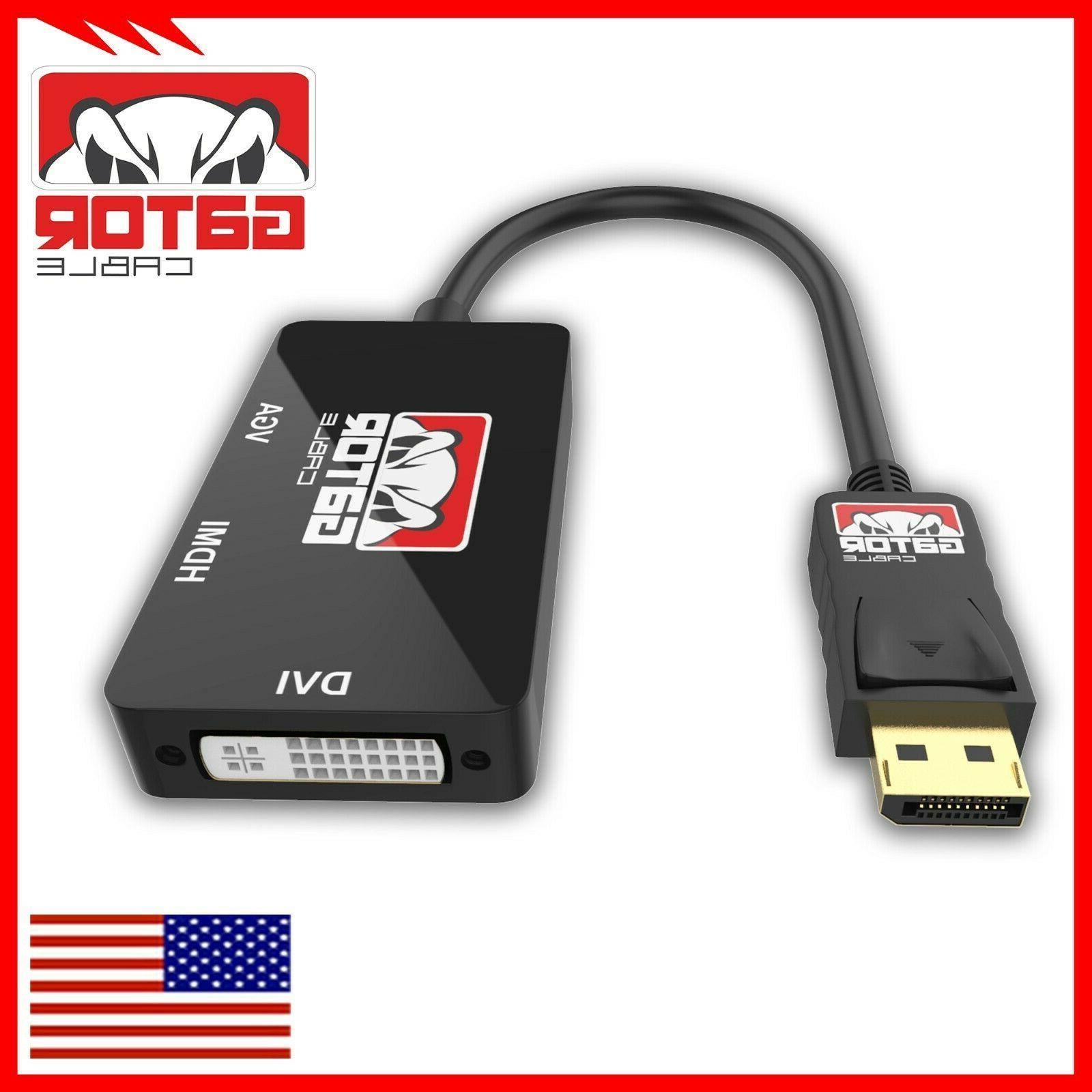 DisplayPort Male DVI-D HDMI Converter 1080P 3in1