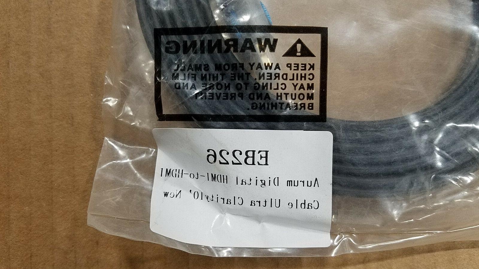 Aurum Flat HDMI Cable with Ethernet 3D 4K Audio Return 1.5-40 ft lengths