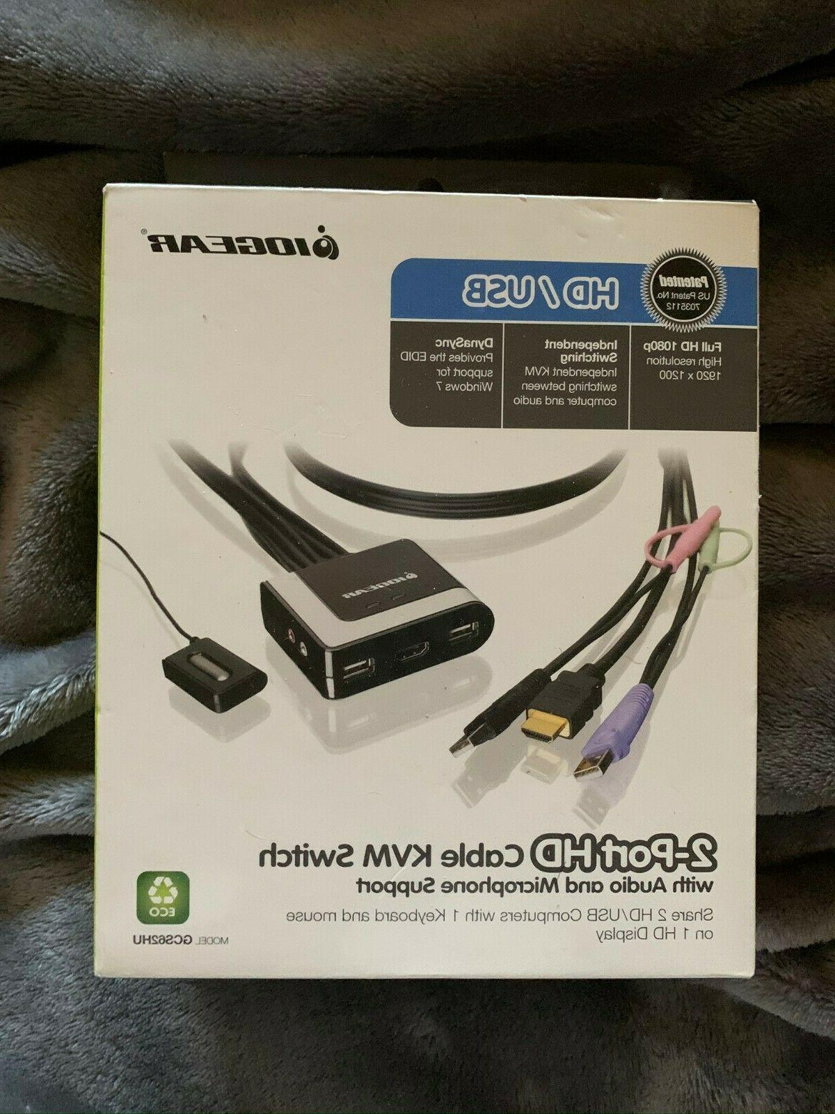 gcs62hu 2 port hd cable kvm switch