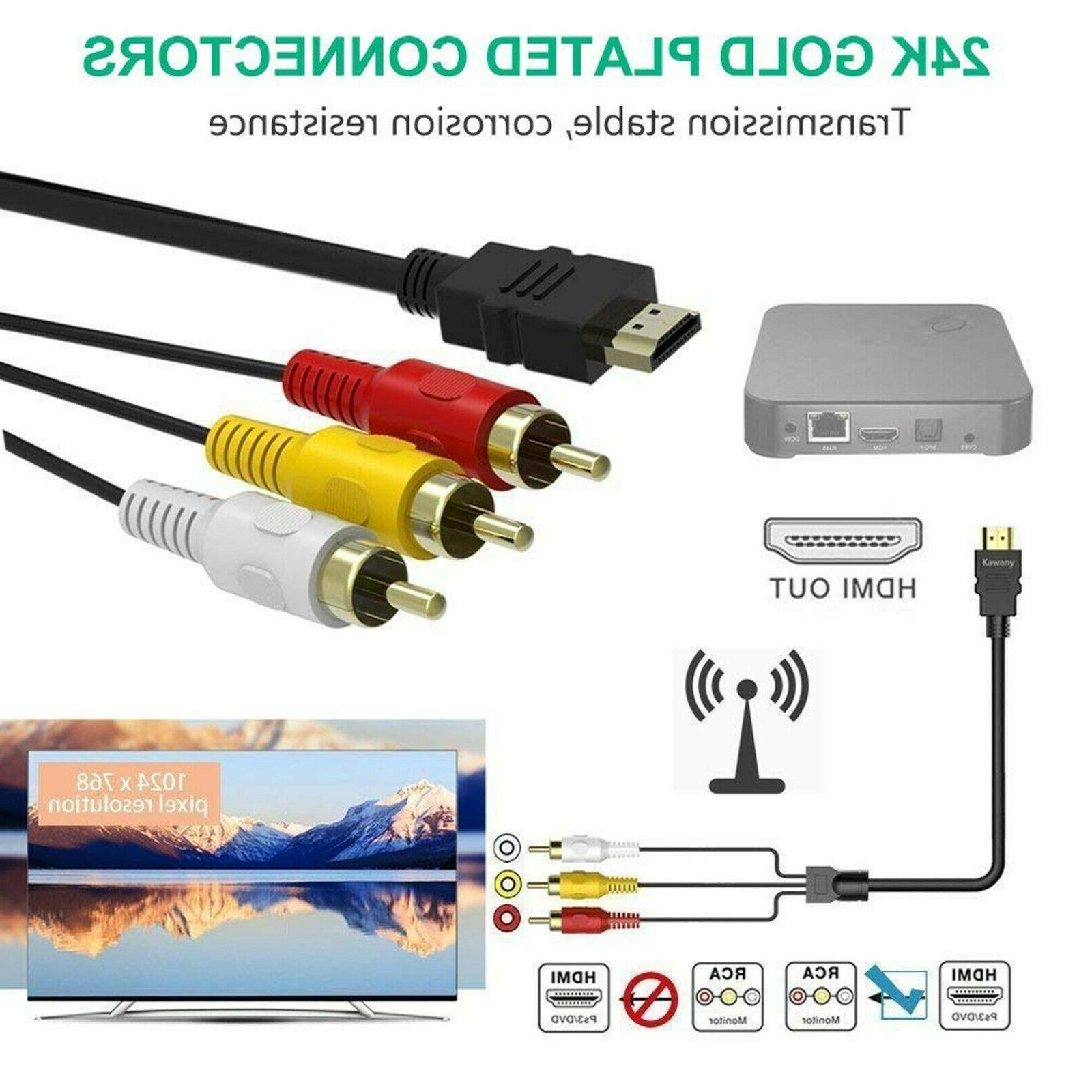 HDMI To RCA Component Cable HDTV 1080