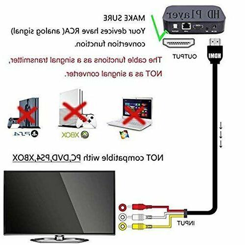HDMI Male RCA Video Component HDTV 1080