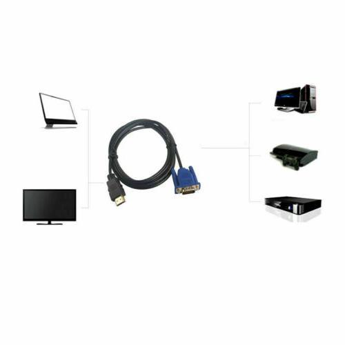 HDMI VGA Male Converter Cable 1080p HDTV