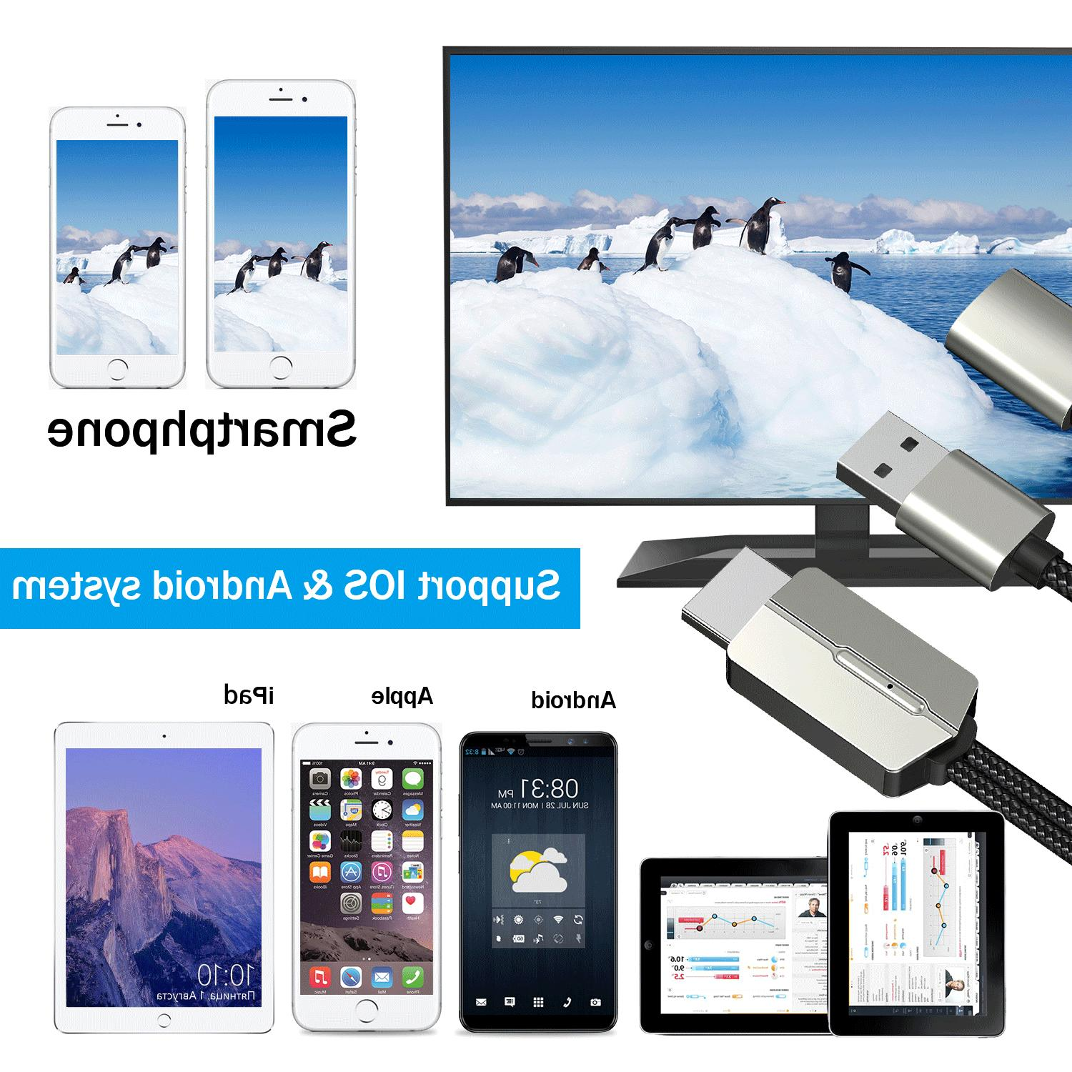 For HDMI Cable AV Phone to