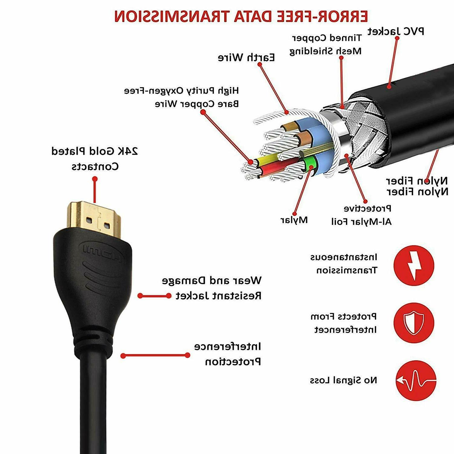 J-Tech Digital Cable 3ft Supporting Ultra High Speed