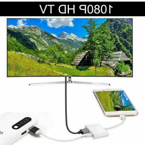 Lot Lightning Digital TV Adapter iPhone 7 8 X XR 11 iPad