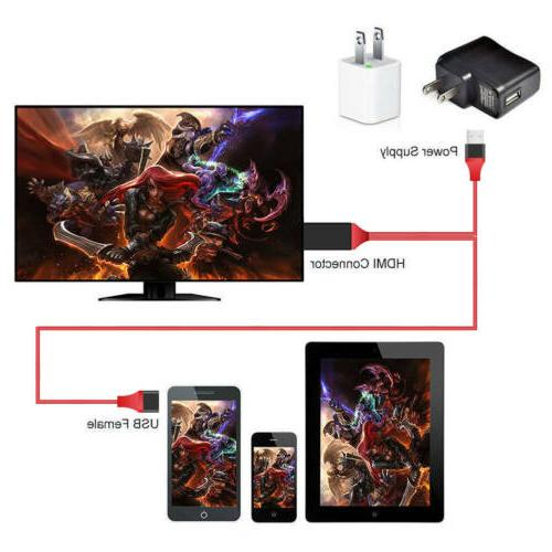 MHL HDMI 1080P Cable Android Samsung Phones