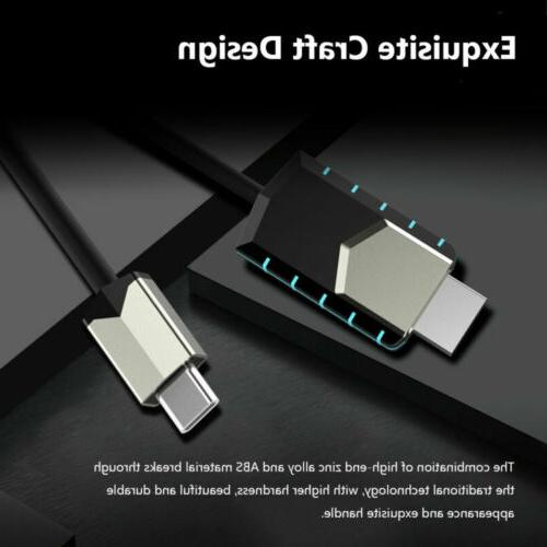 For Samsung S8 S9+ Note 9 Plus 4K USB C Adapter