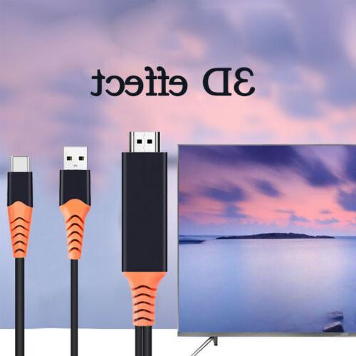 Type C HDTV AV TV Cable Adapter Fit