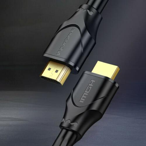 4K  Gold Plated High Speed W Ethernet  3-25ft Lot HDMI Cable HD Supports 3D