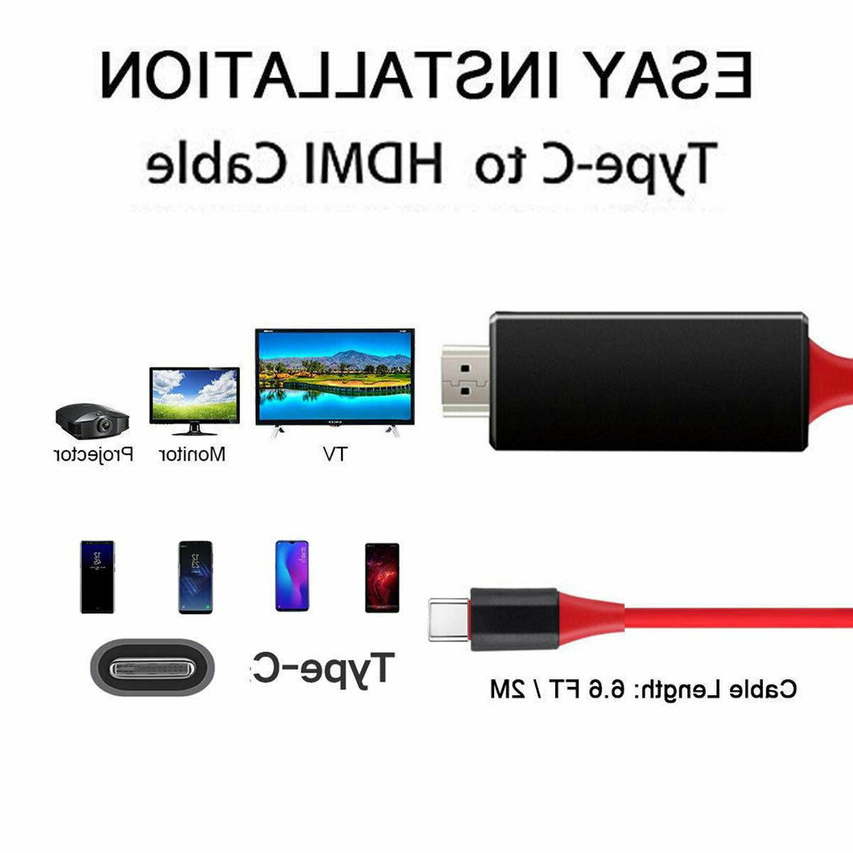 USB-C HDMI HDTV For Samsung S20 Note20 MacBook