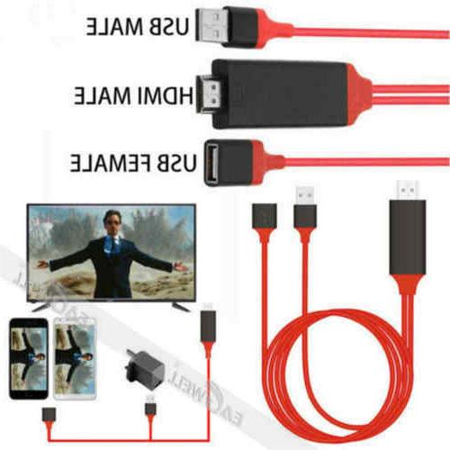 USB to HDMI TV Adapter Mirror HD 1080 OTG MHL Charger Cable for Andriod Samsung