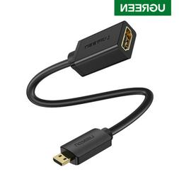 UGREEN Micro HDMI to HDMI Cable Male to Female Adapter 4K 10
