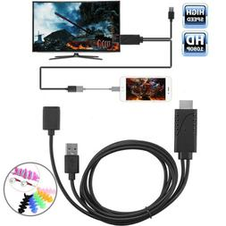 Micro USB Phone to HDMI TV Cable Adapter For Samsung S9 S8 P