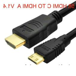 Mini HDMI C TO HDMI A AUDIO VIDEO -Out Cable/ for Canon Came