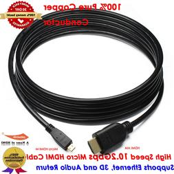 Premium 4K Micro HDMI to HDMI Cable for HD Video Camera Mobi