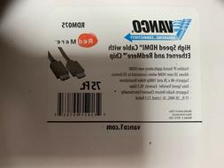Vanco RDM075 75ft High Speed HDMI Cable Ethernet and RedMere
