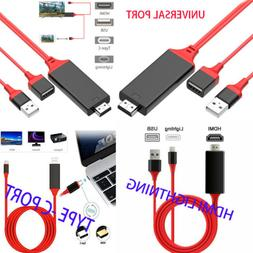 Universal 1080P HDMI Adapter Cable TV/Computer For iPhone,Sa