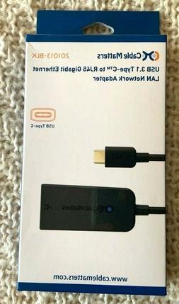 Cable Matters USB 3.1 Type C  to RJ45 Gigabit Ethernet LAN N